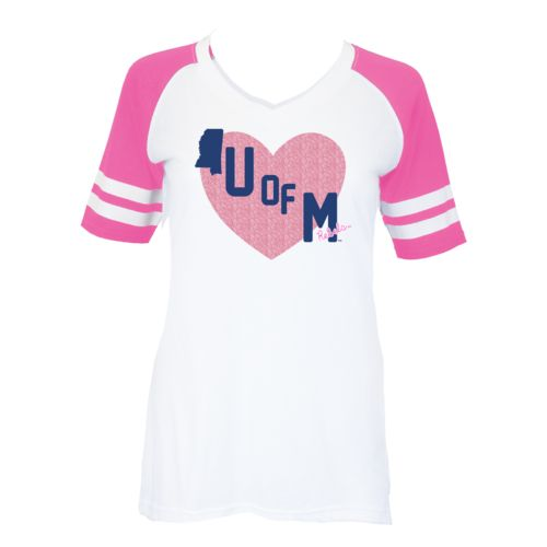 Soffe Girls' University of Mississippi Retro Football Jersey T-shirt