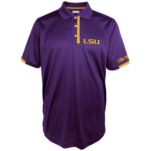 Majestic Men's Louisiana State University Section 101 Colorblock Synthetic Polo Shirt