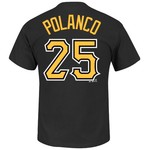 Majestic Men's Pittsburgh Pirates Gregory Polanco #25 T-shirt