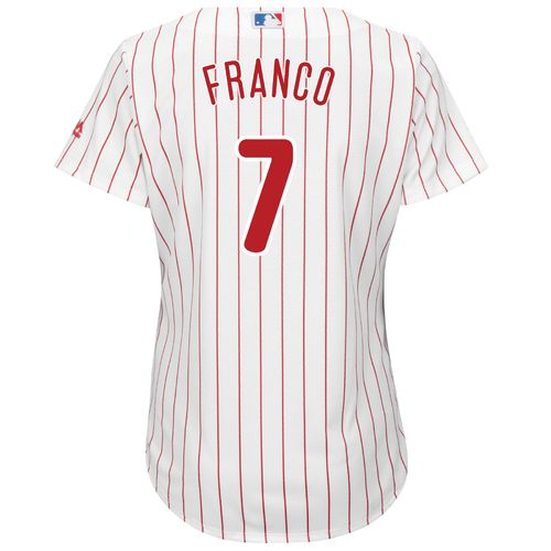 Majestic Women's Philadelphia Phillies Maikel Franco #7 Cool Base Replica Home Jersey - view number 1