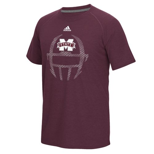 adidas™ Men's Mississippi State University Sideline Helmet Dot T-shirt