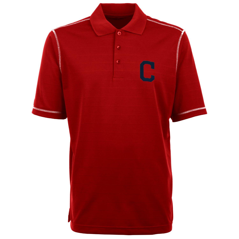 Antigua Men's Cleveland Indians Icon Piqu Polo Shirt for cheap