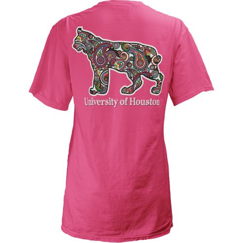 Three Squared Juniors' University of Houston Preppy Paisley T-shirt