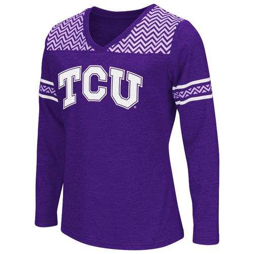 Colosseum Athletics™ Girls' Texas Christian University Cupie Long Sleeve T-shirt