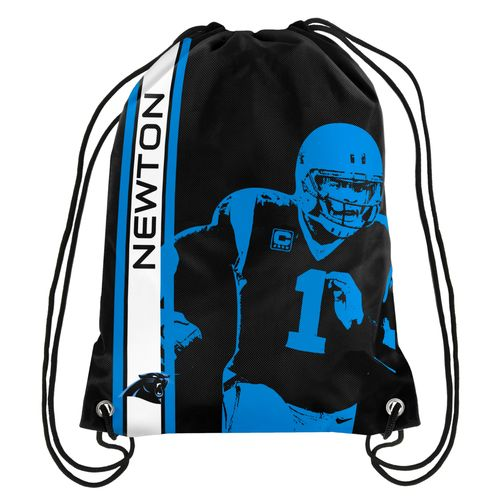 Team Beans Carolina Panthers Cam Newton #1 Drawstring Backpack