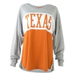 289c Apparel Women's University of Texas Elite Oversize Long Sleeve T-shirt