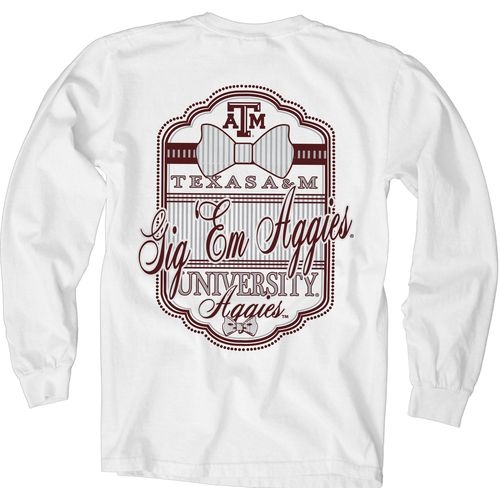 Blue 84 Women's Texas A&M University Fresh Look Bow Tie T-shirt