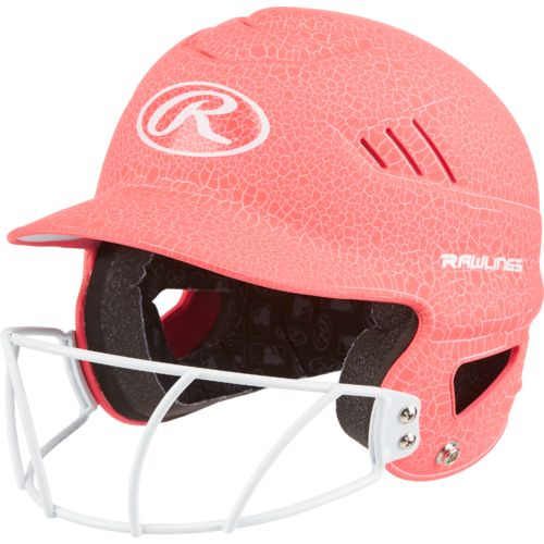 Rawlings Women's Crackle Softball Helmet with Face Mask