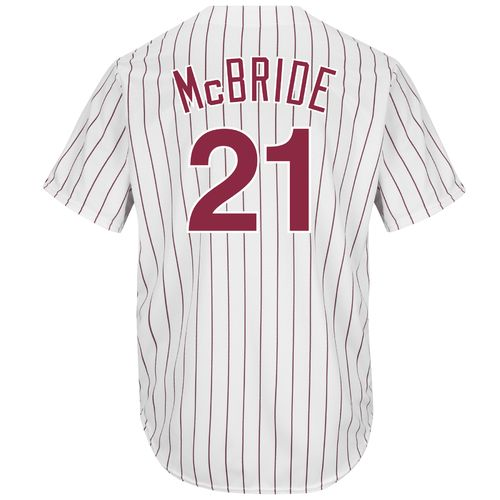 Majestic Men's Philadelphia Phillies Arnold McBride #21 Cool Base Cooperstown Jersey
