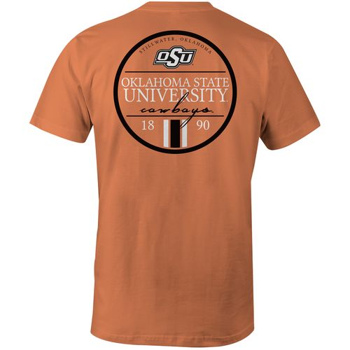 Image One Men's Oklahoma State University Simple Circle Lines Comfort Color T-shirt