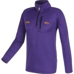 Drake Waterfowl Men's Louisiana State University BreathLite 1/4 Zip Pullover