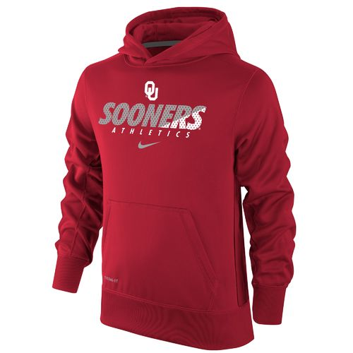 Nike Boys' University of Oklahoma Therma-FIT KO Hoodie