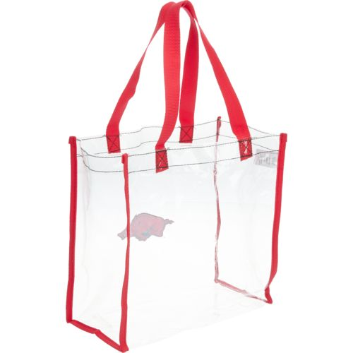 Forever Collectibles™ University of Arkansas Clear Reusable Bag - view number 2