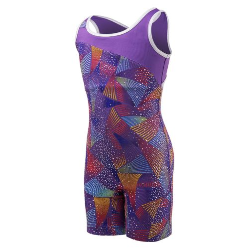 Capezio® Girls' Future Star Rainbow Cyclone Printed Biketard