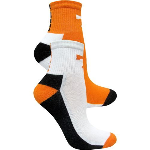 Topsox Men's University of Tennessee Broken Stripe Quarter Socks 2 Pairs
