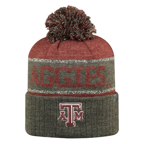 Top of the World Men's Texas A&M University Below Zero Cuffed Knit Cap
