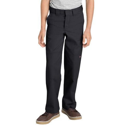 Dickies Boys' Relaxed Fit Straight Leg FlexWaist Double Knee Uniform Pant - view number 1