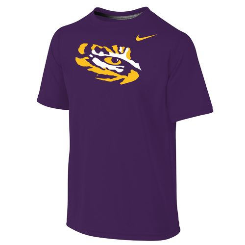 Nike Boys' Louisiana State University Dri-FIT Legend Short Sleeve T-shirt