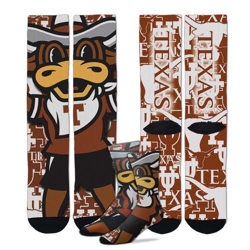 For Bare Feet Men's University of Texas Sublimated Socks