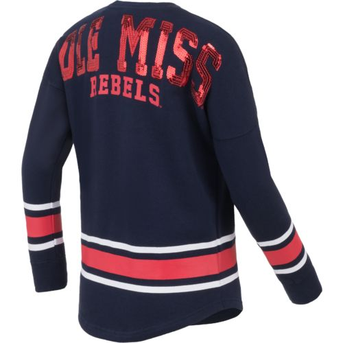 Colosseum Athletics™ Girls' University of Mississippi Boyfriend Varsity Pullover