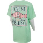 Love & Pineapples Women's Love Me Like You Love Fishing Short Sleeve T-shirt - view number 1