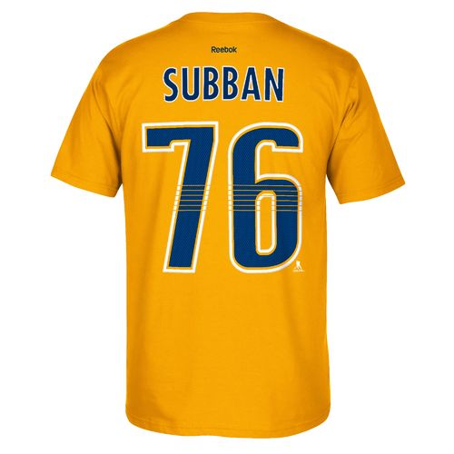 Reebok Men's Nashville Predators P.K. Subban #76 Name and Number T-shirt