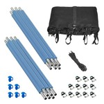 Upper Bounce® 6-Pole Trampoline Enclosure Set for 14' Round Frames with 3 or 6 W-Shape Legs - view number 1