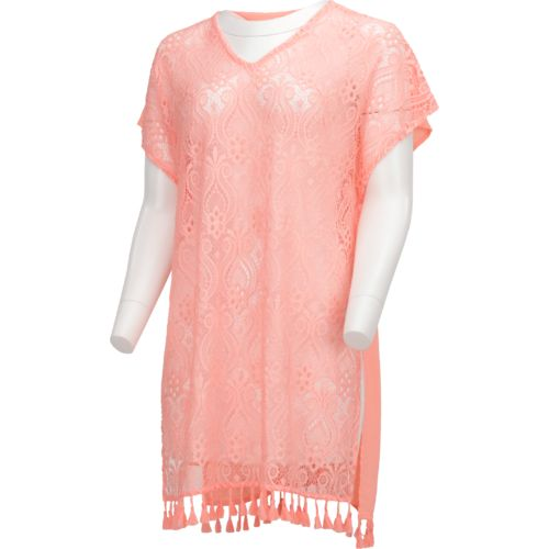 O'Rageous Juniors' Crochet Poncho Cover-Up