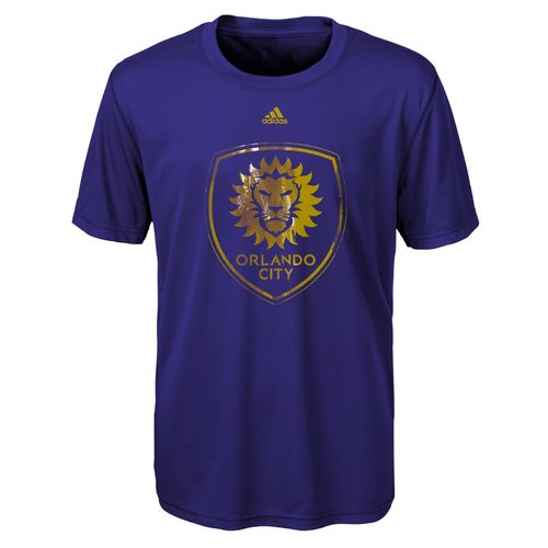 adidas Boys' Orlando City SC War Paint Logo climalite T-shirt