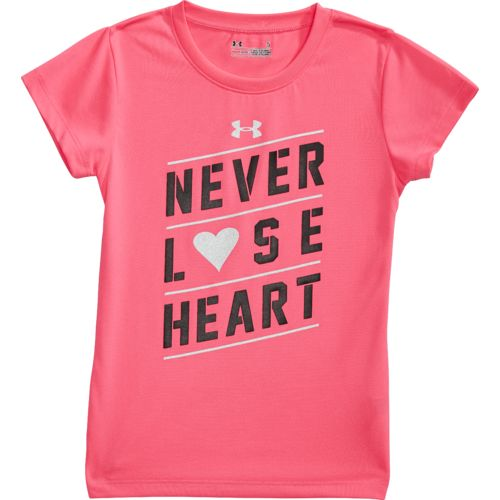 Under Armour Girls' Never Lose Heart T-shirt - view number 4