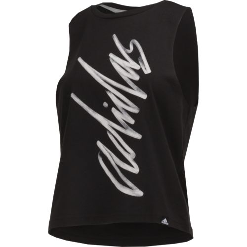 adidas Women's Script Muscle Tank Top - view number 3