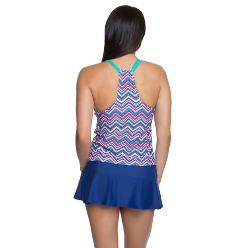 BCG Women's Check Me Out Double Strap Tankini Swim Top - view number 2