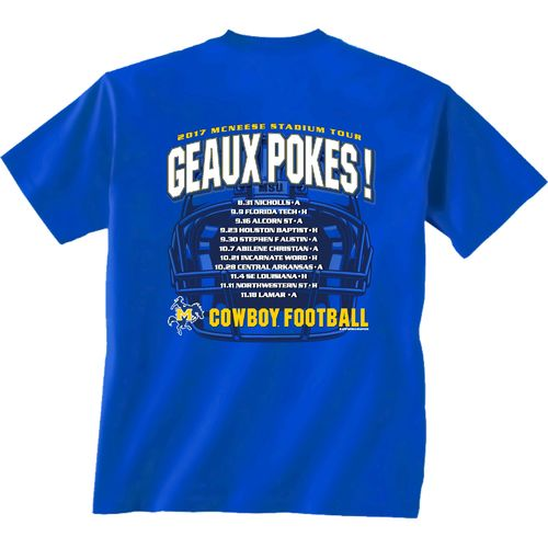 New World Graphics Men's McNeese State University Football Schedule '17 T-shirt - view number 1