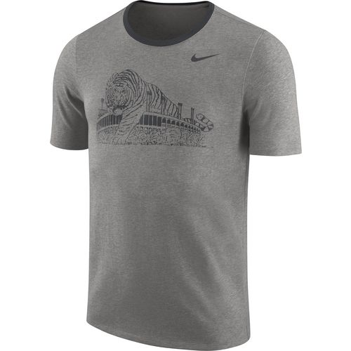 Nike Men's Louisiana State University Heavyweight Elevated Essentials Short Sleeve T-shirt