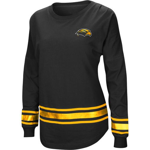 Colosseum Athletics Women's University of Southern Mississippi Humperdinck Oversize Long Sleeve T-sh