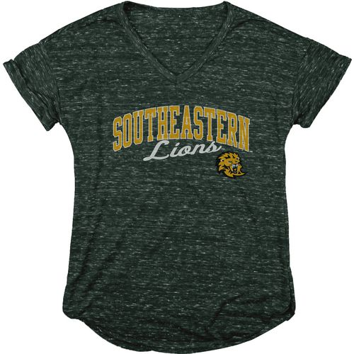 Blue 84 Women's Southeastern Louisiana University Dark Confetti V-neck T-shirt