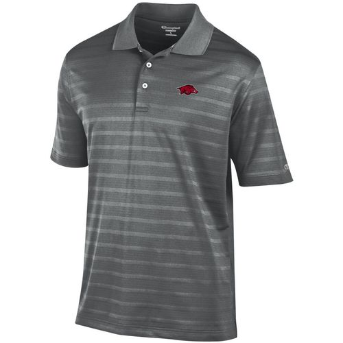Champion Men's University of Arkansas Textured Polo Shirt
