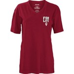 Three Squared Juniors' Indiana University Team For Life Short Sleeve V-neck T-shirt - view number 2