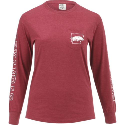 Three Squared Juniors' University of Arkansas Mystic Long Sleeve T-shirt