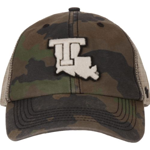 '47 Louisiana Tech University Burnett Frontline Camo Clean Up Cap (Green Dark/Light Green, Size One Size) - NCAA Licensed Product, NCAA Men's Caps at Academy... thumbnail