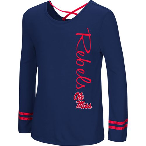 Colosseum Athletics Girls' University of Mississippi Marks the Spot Strappy Back Long Sleeve T-shirt