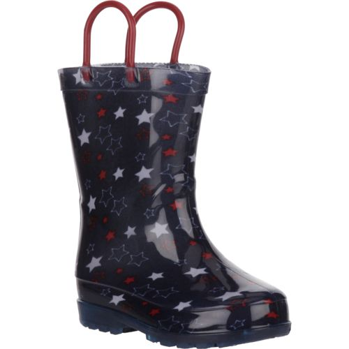 Austin Trading Co. Toddler Girls' Stars Light-Up PVC Boots - view number 2
