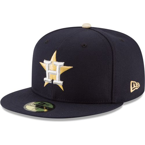 New Era Men's Houston Astros Gold Patch 59FIFTY Cap - view number 2