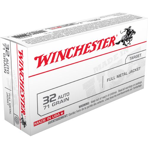 Winchester USA Full Metal Jacket .32 Automatic 71-Grain