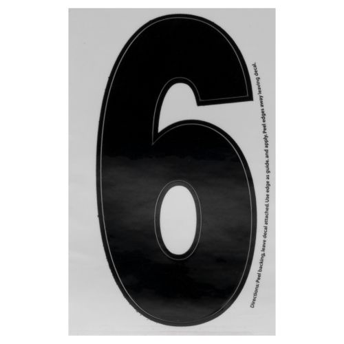 "Hardline Products® Dyer 3"" Number 6 Decal"