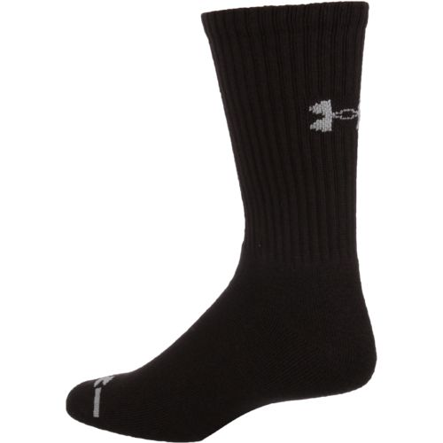 Under Armour Adults' Charged Cotton Crew Socks - view number 2