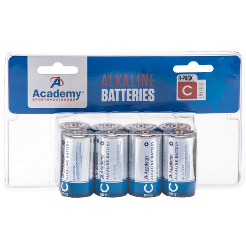 Academy Sports + Outdoors C Alkaline Batteries 8-Pack