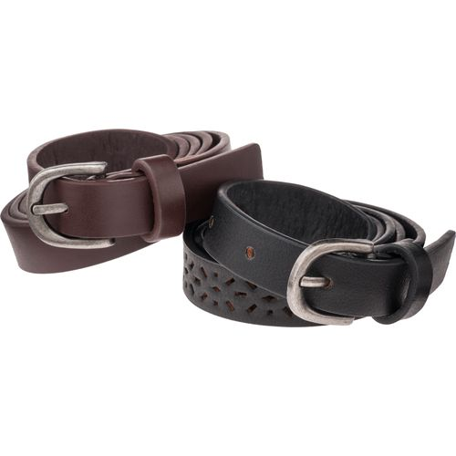 Austin Trading Co. Juniors' Leather Belts 2-Pack