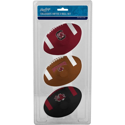 Rawlings University of South Carolina 3rd Down Softee Footballs 3-Pack