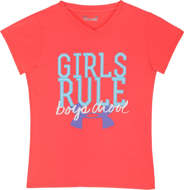 Under Armour® Toddler Girls Girls Rule Boys Drool T-shirt   Academy